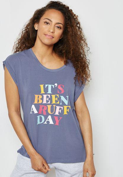 Slogan Crop T-Shirt