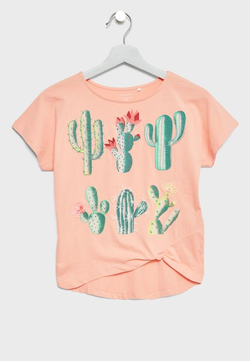 Teen Organic Cotton Embroidered Top