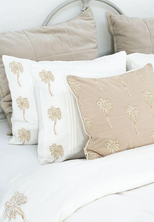 Pair of Luxury Palm Tree Pillow Cases 50x70cm