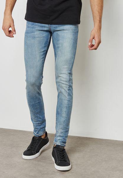 Vintage Wash Skinny Jeans
