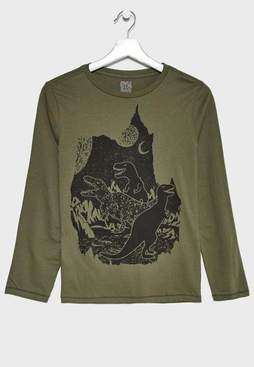 Kids Dino Graphic T-Shirt