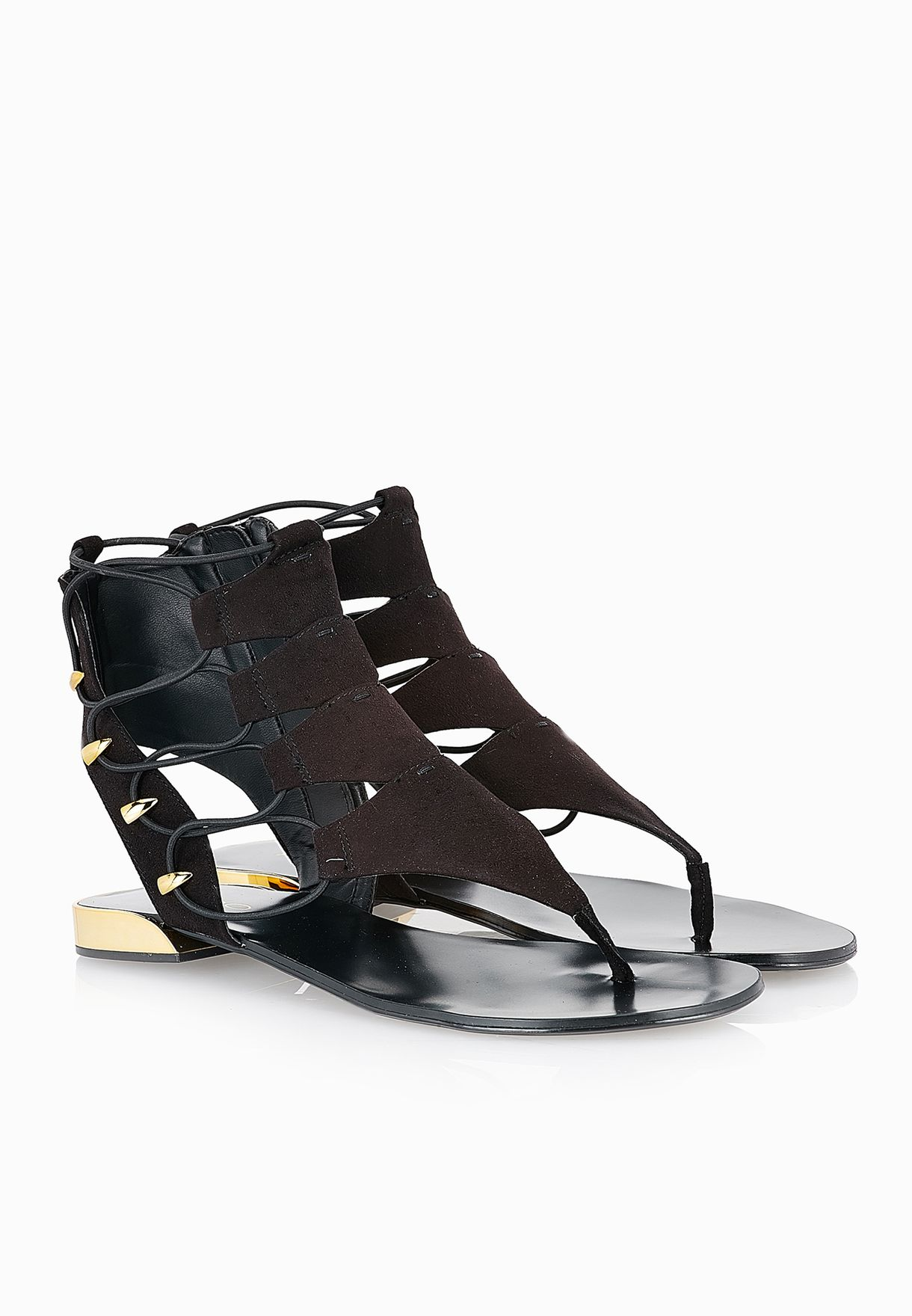 0ff9904a6bfc Shop Aldo black Athena Thong Strappy Sandals for Women in Kuwait ...
