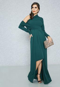 One Shoulder Self Tie Dress