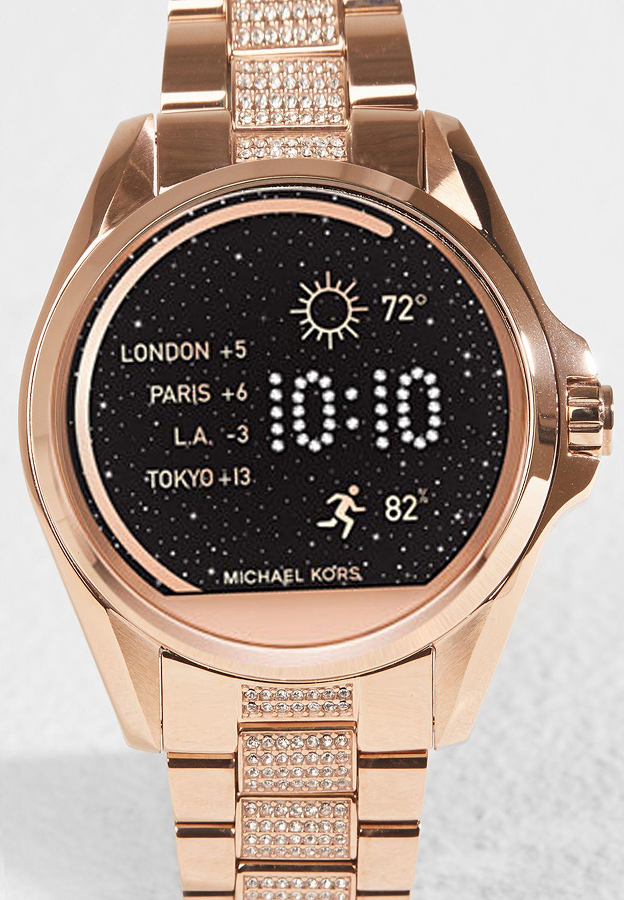 90e78d041 تسوق ساعة برادشو الذكية ماركة مايكل كورس لون ذهبي MKT5018 في ...