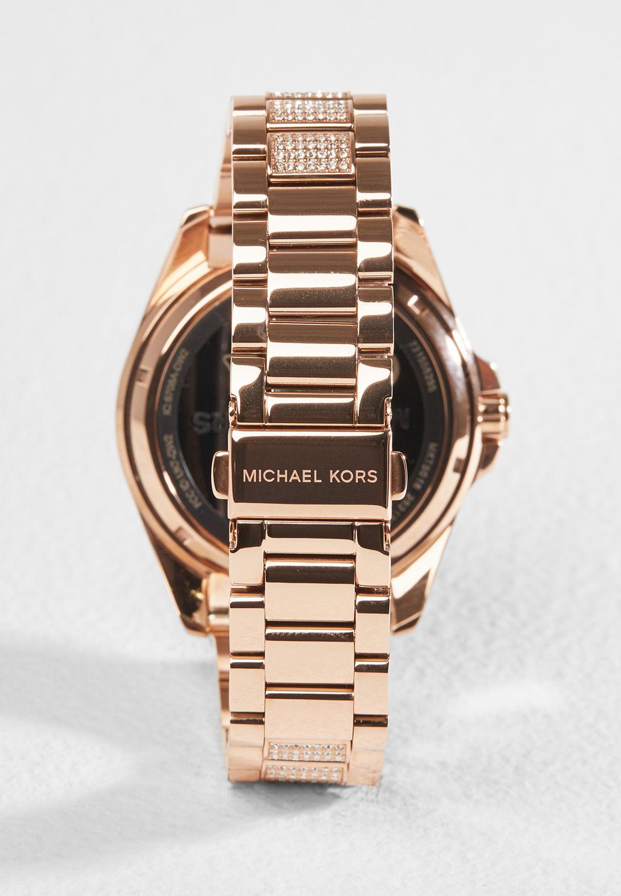 86fd44c9d5423 تسوق ساعة برادشو الذكية ماركة مايكل كورس لون ذهبي MKT5018 في ...