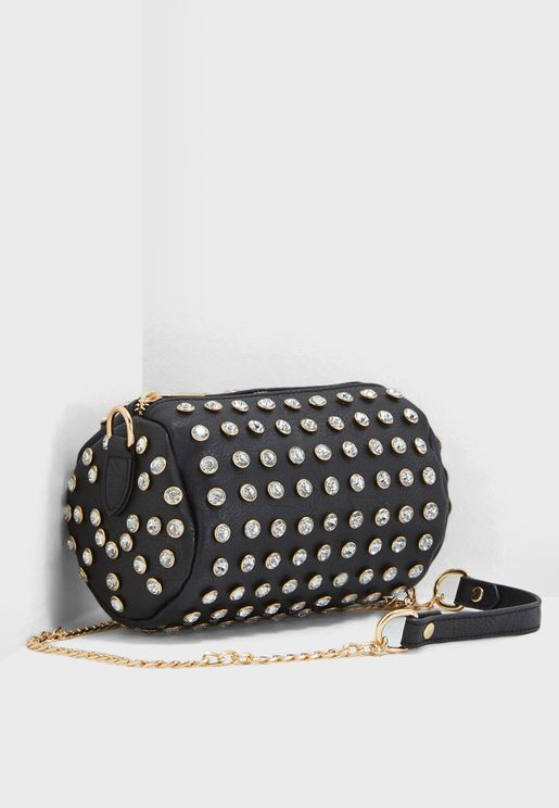 Diamante Oval Stud Crossbody