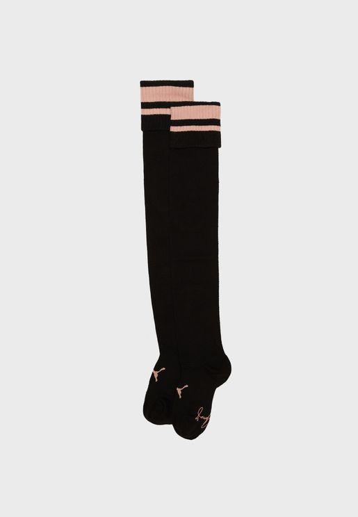 Selena Gomez Over Knee Socks