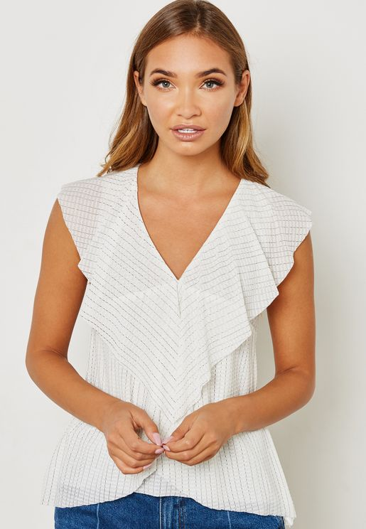 Ruffle Textured Top