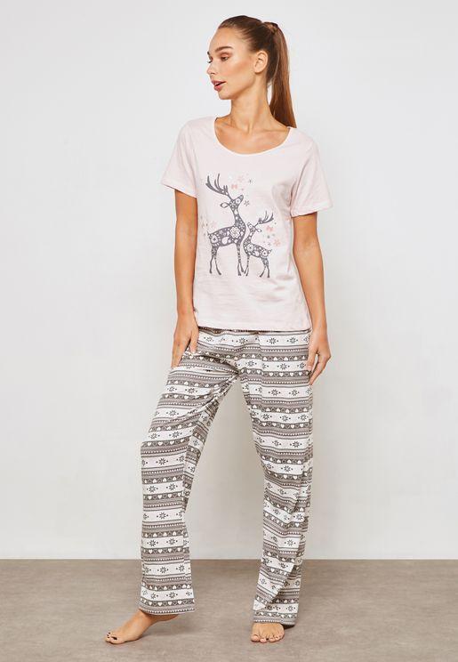 Reindeer Pyjama Set