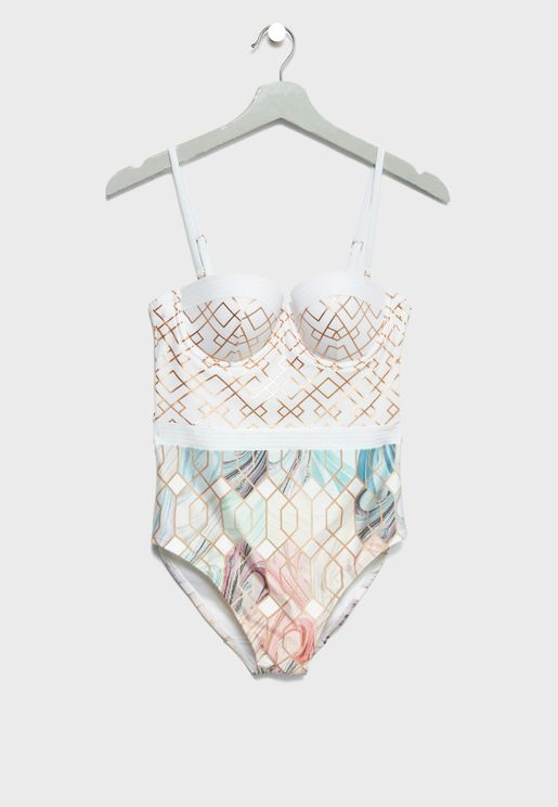 Lace Cupped Swimsuit