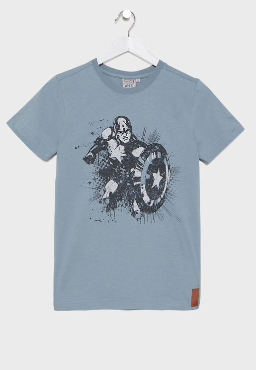Little Captain America T-Shirt