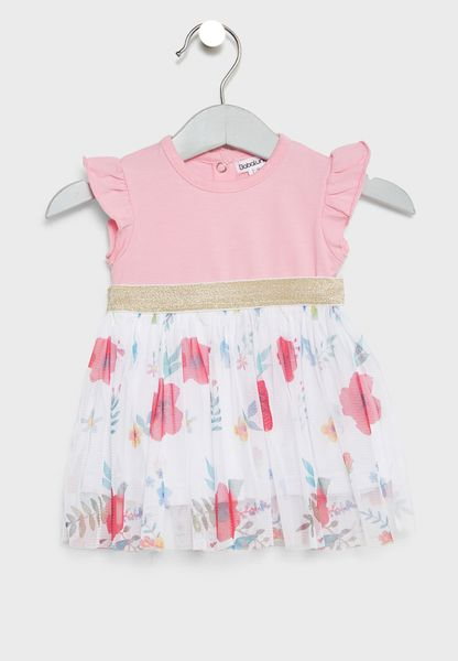 Infant Frill Sleeve Dress