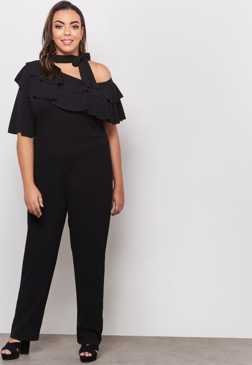 Asymmetrical Shoulder Jumpsuit