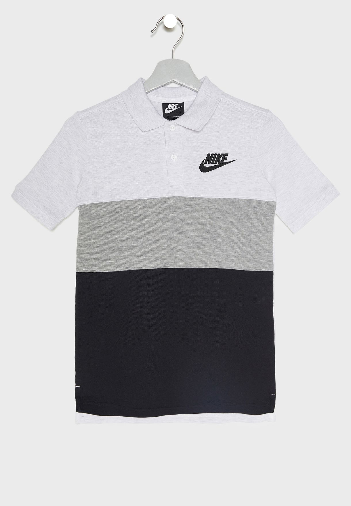 c9300f40b Shop Nike grey Youth Colour Block Matchup Polo 849764-052 for Kids ...