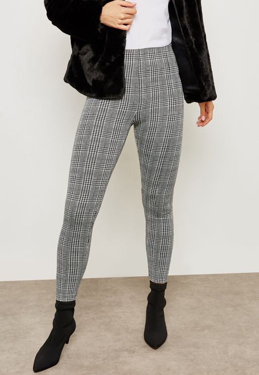 Checked Jeggings