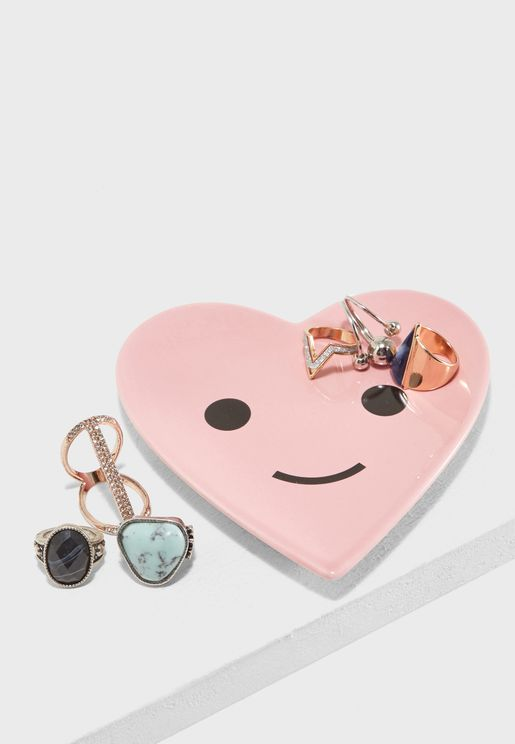 Happy Heart Many Things Catchall Plate