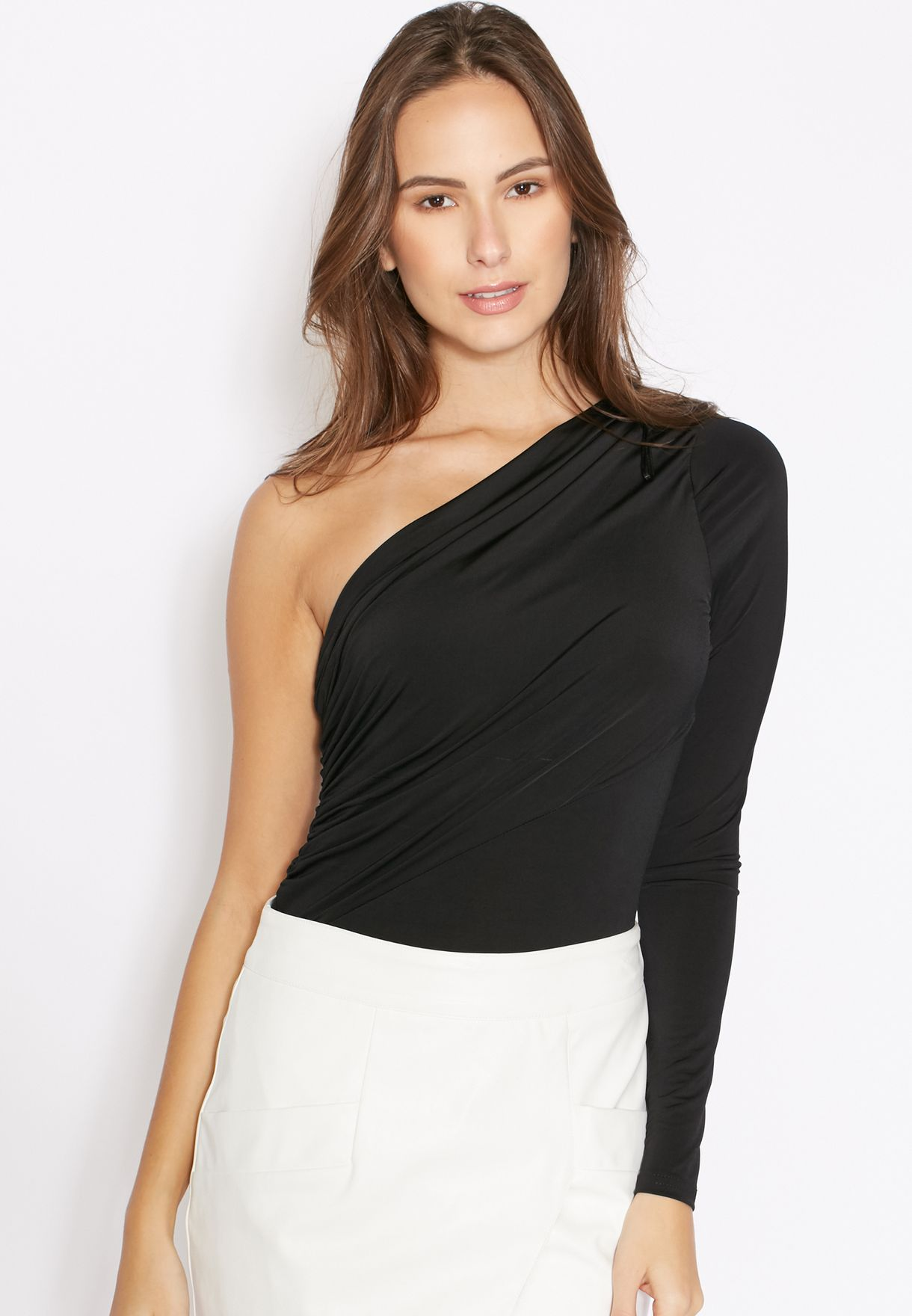 f776ad81f4 Shop Ginger black One Shoulder Body for Women in Qatar - GI121AT51NAA