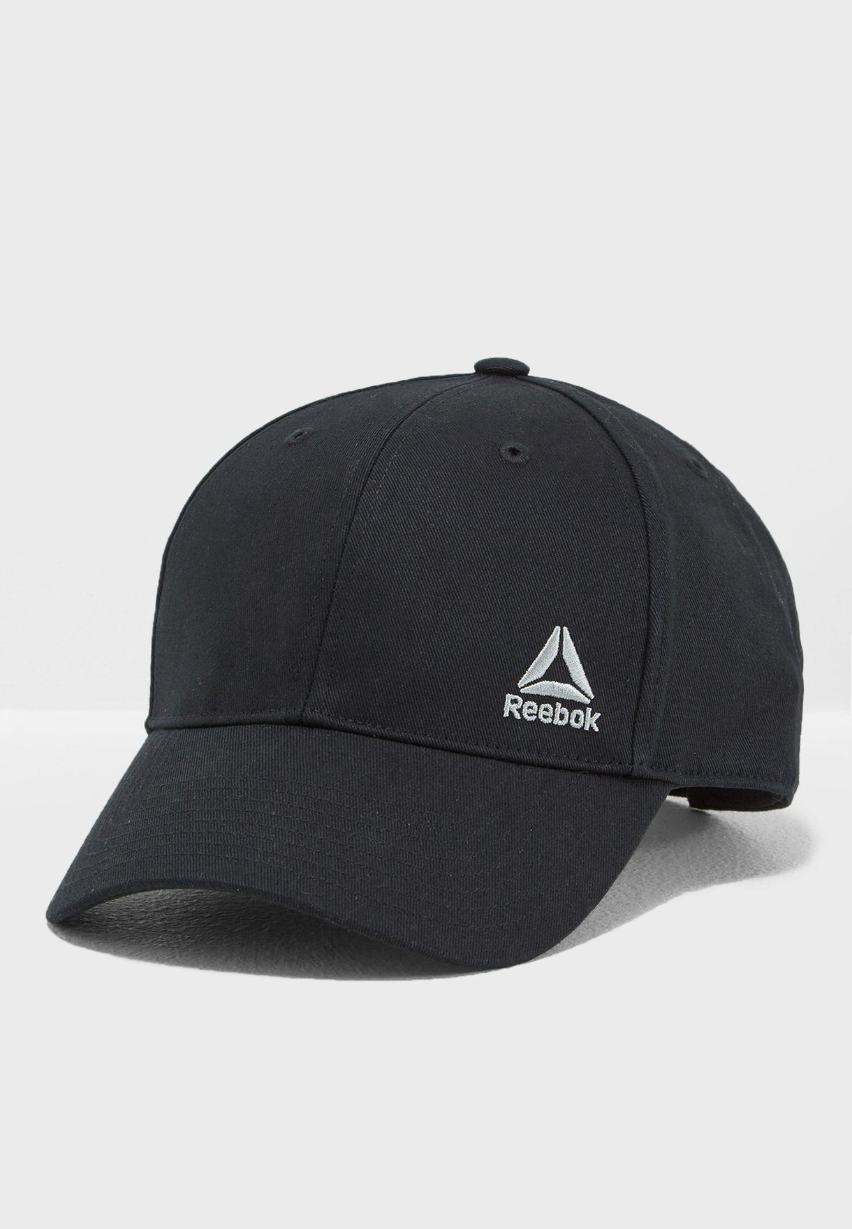 4a53e131 Shop Reebok black Essential Logo Cap AJ6189 for Men in UAE ...