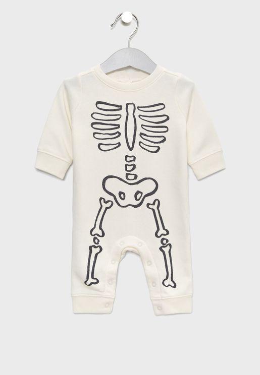 Infant Skeleton Romper