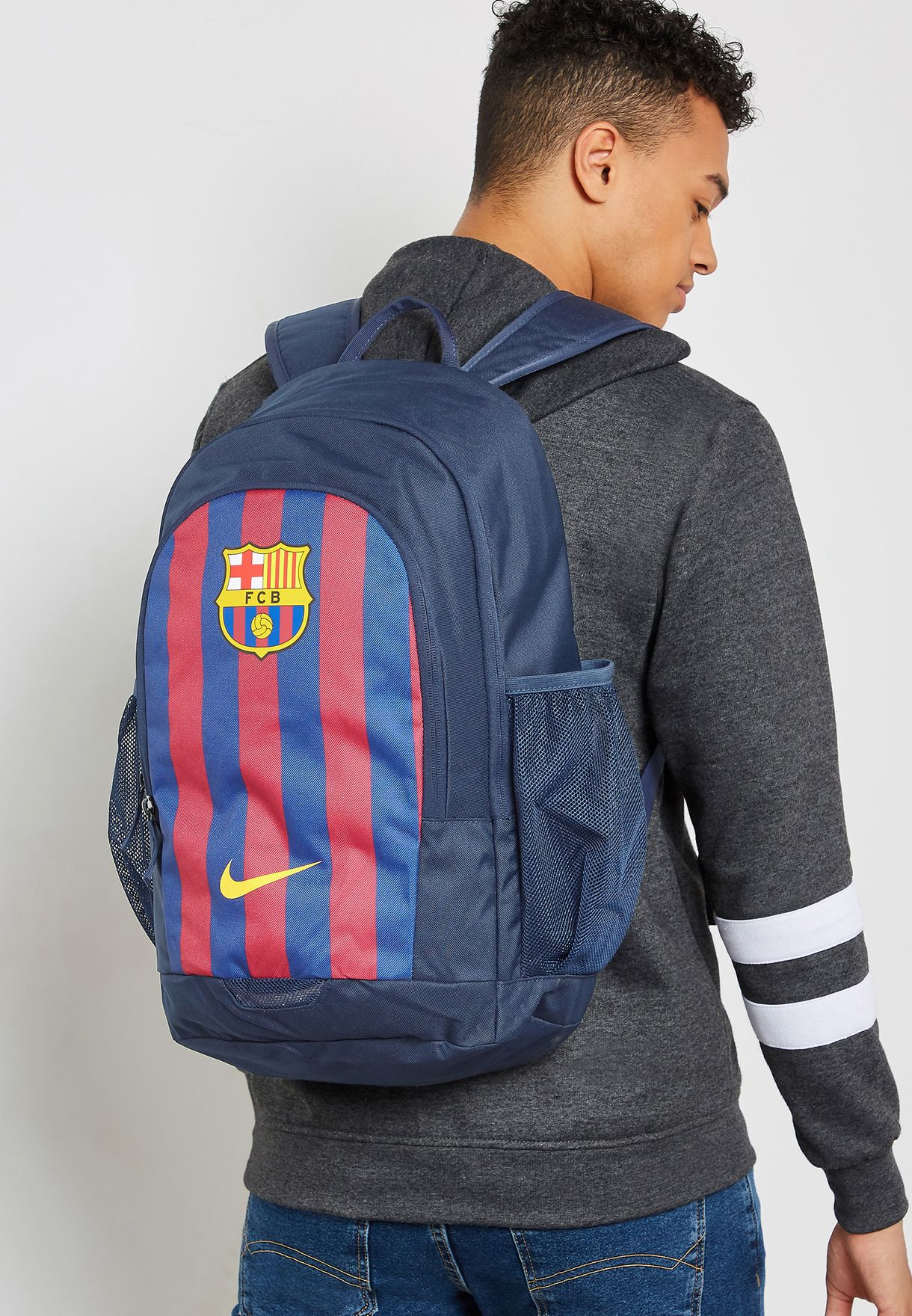 755295222 Shop Nike navy FC Barcelona Stadium Backpack BA5363-451 for Men in ...