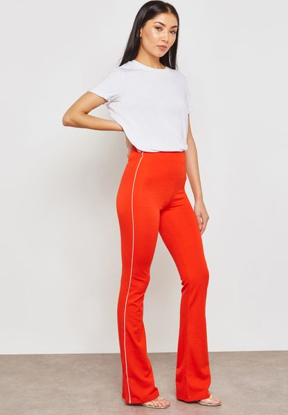 Side Striped Flared Pants