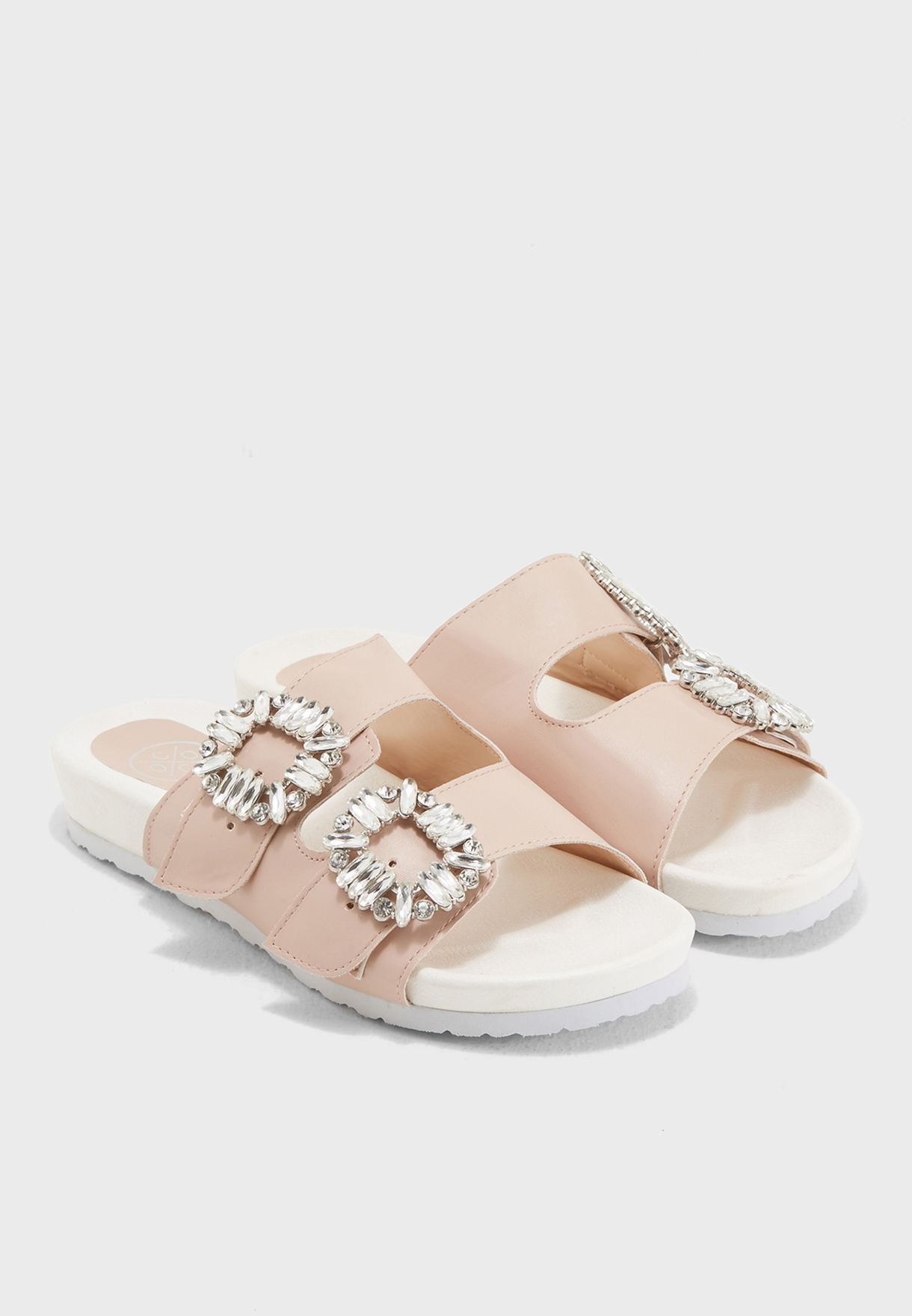 Solstice Embellished Two Strapped Sandal