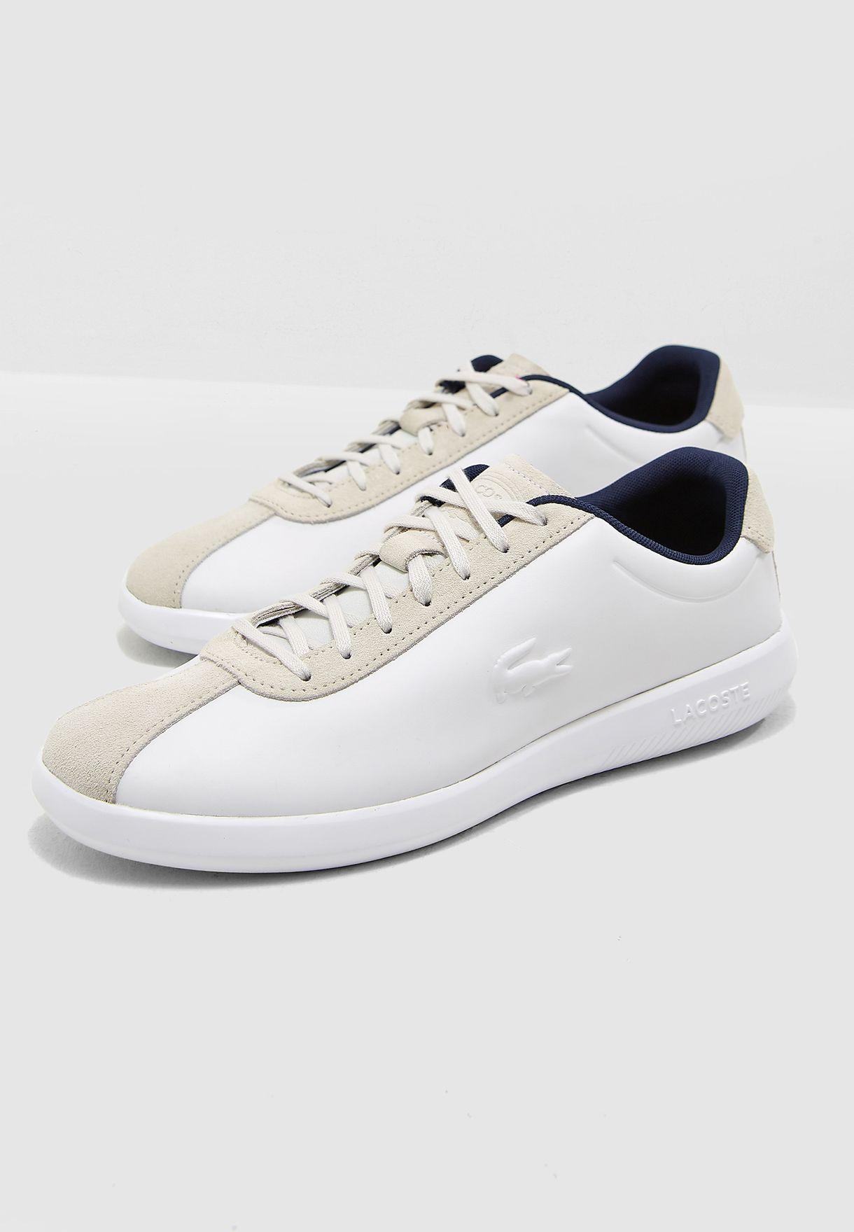 274b2280d38b Shop Lacoste white Avance Sneakers 36SPM000565T for Men in UAE ...