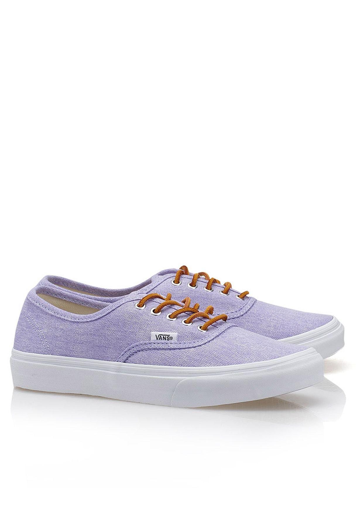 d1c2ea0af8 Shop Vans purple Authentic Slim Washed Sneakers for Women in UAE ...