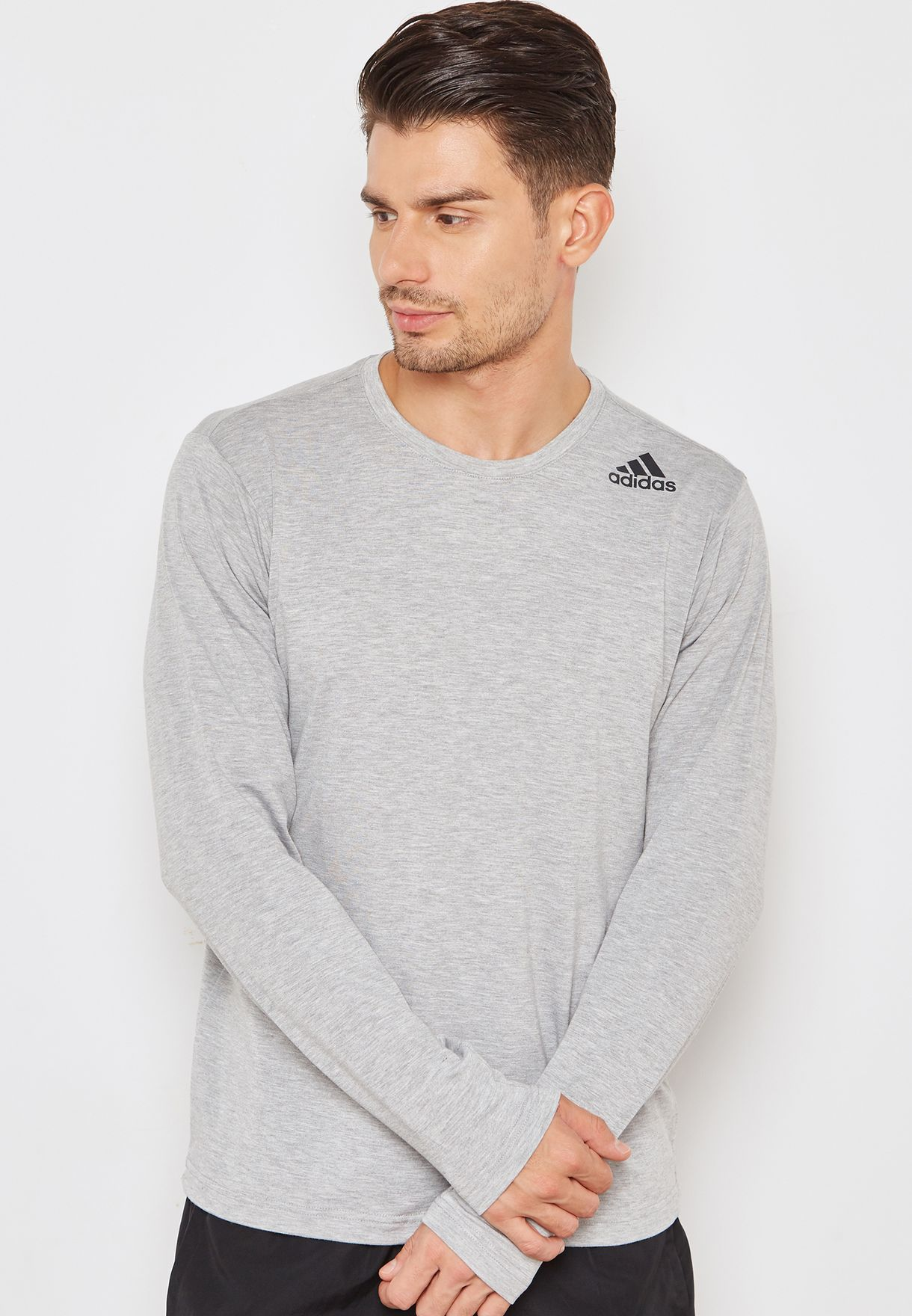 Shop adidas grey FreeLift Prime T-Shirt CE0900 for Men in Bahrain -  AD476AT51KGI b94bee229