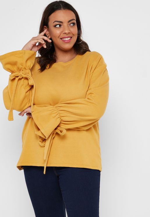 Ruched Detail Oversize Sweater
