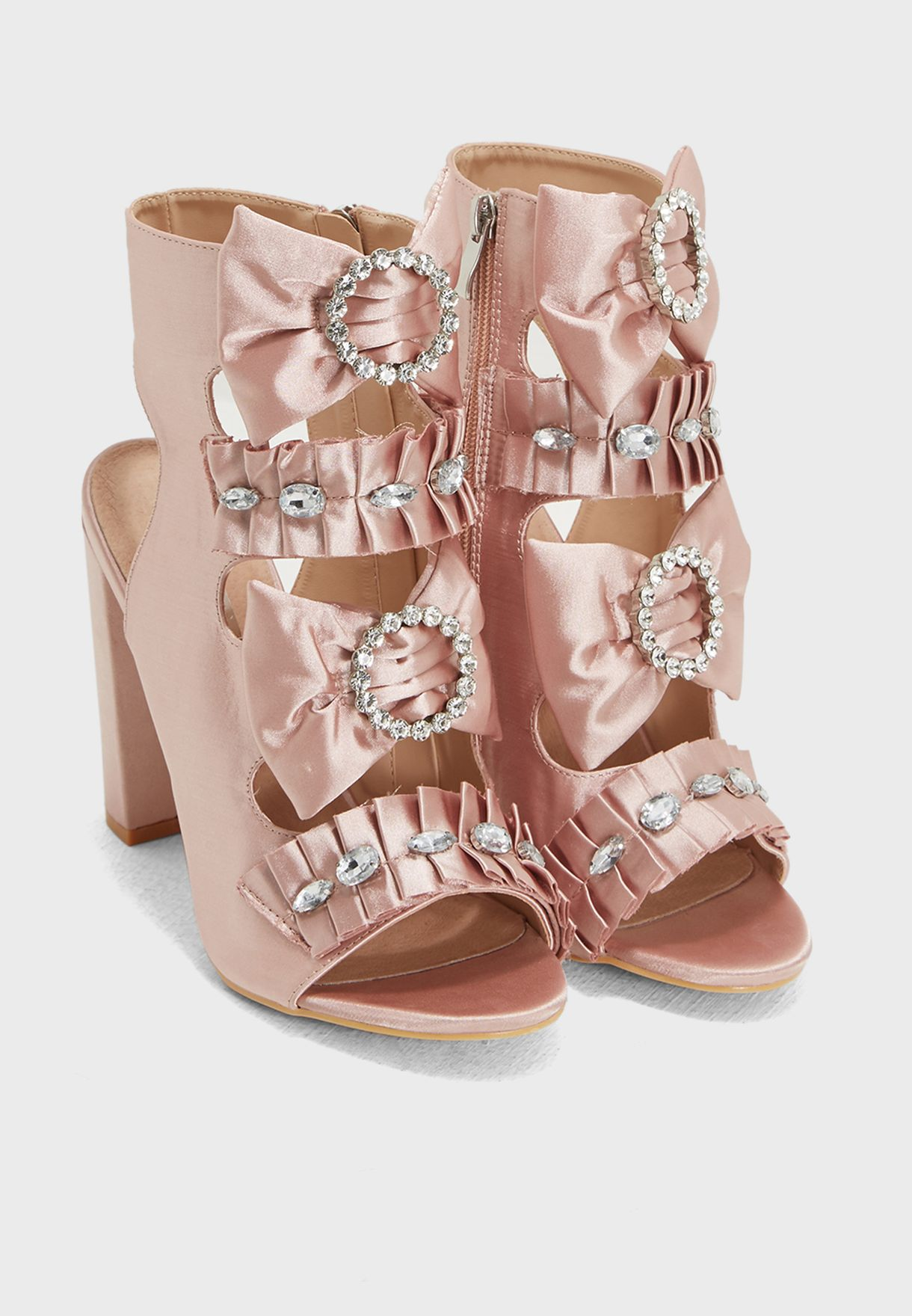 Bow And Jewel Trim Sandal