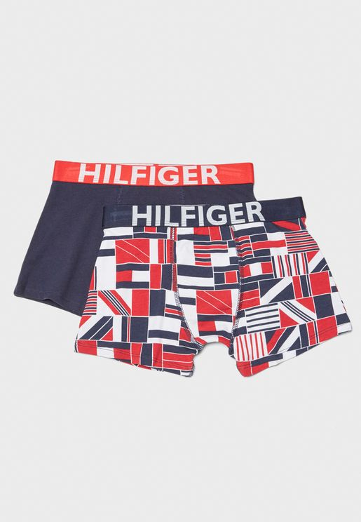 Teen 2 Pack Logo Trunks