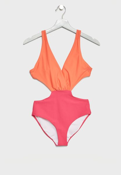 Tie Back Cut Out Wimsuit
