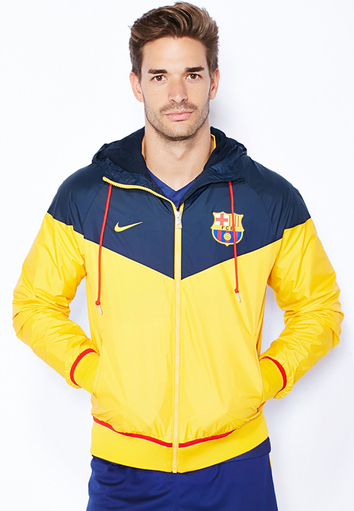 9401d9ca94 Shop Nike multicolor FCB Authentic Windrunner Jacket 689949-475 for ...