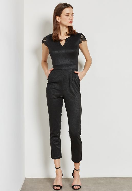 Bar Detail Jumpsuit