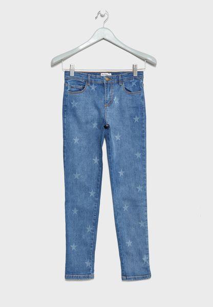 Teen Star Print Jeans
