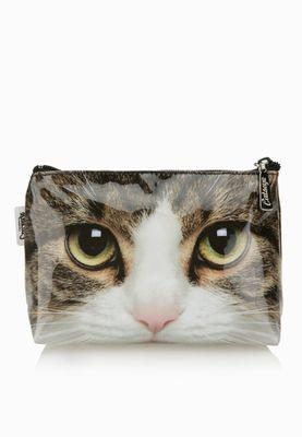 Catseye Tabby Cat Cosmetic Bag