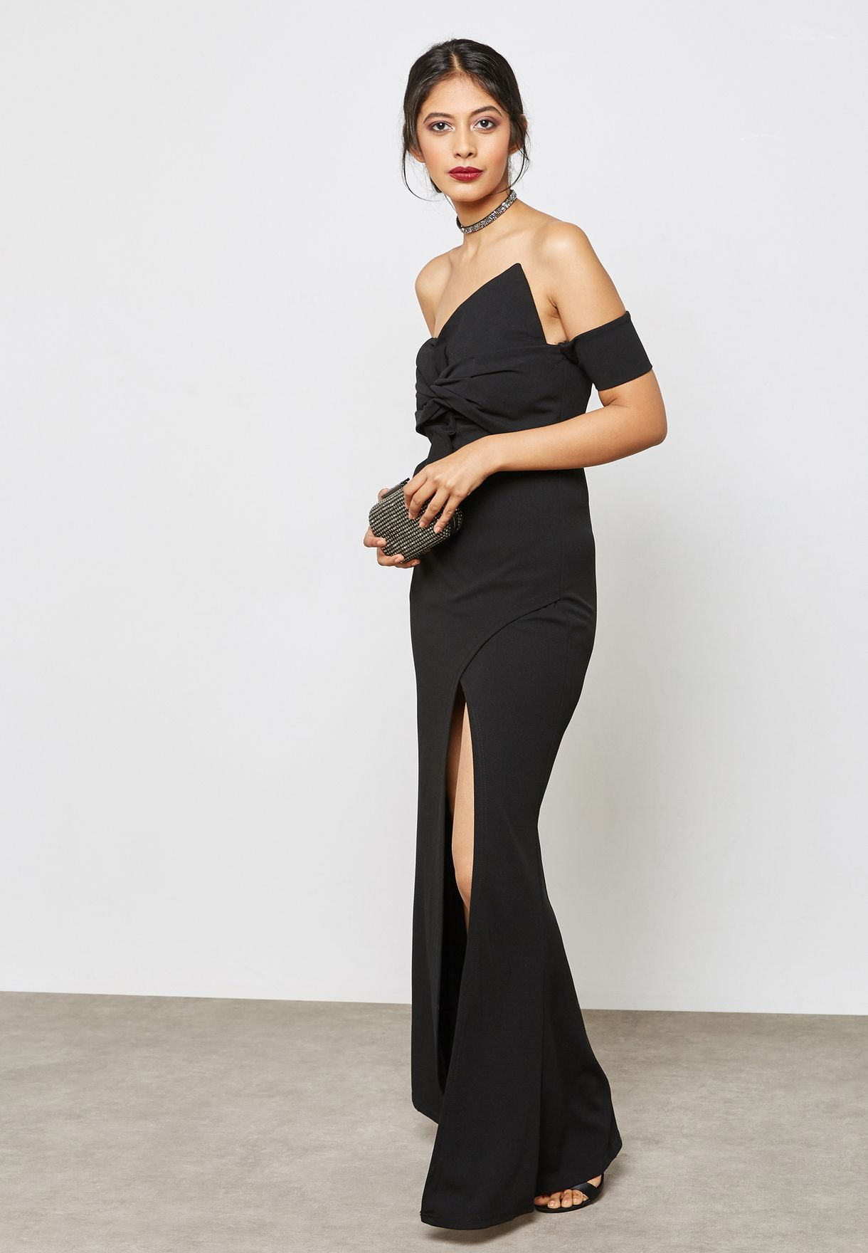 Split Detail Maxi Dress