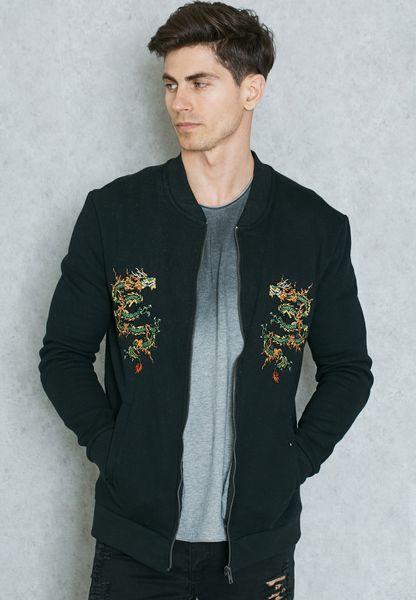 Embroidery Print Sweatshirt
