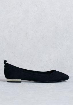 Electroplated Low Heel Ballerinas