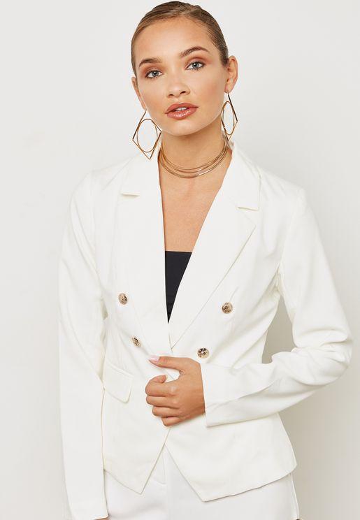 Tailored Military Blazer Jacket