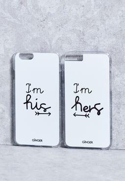 مجموعة من 2 غطاء هاتف ايفون 6