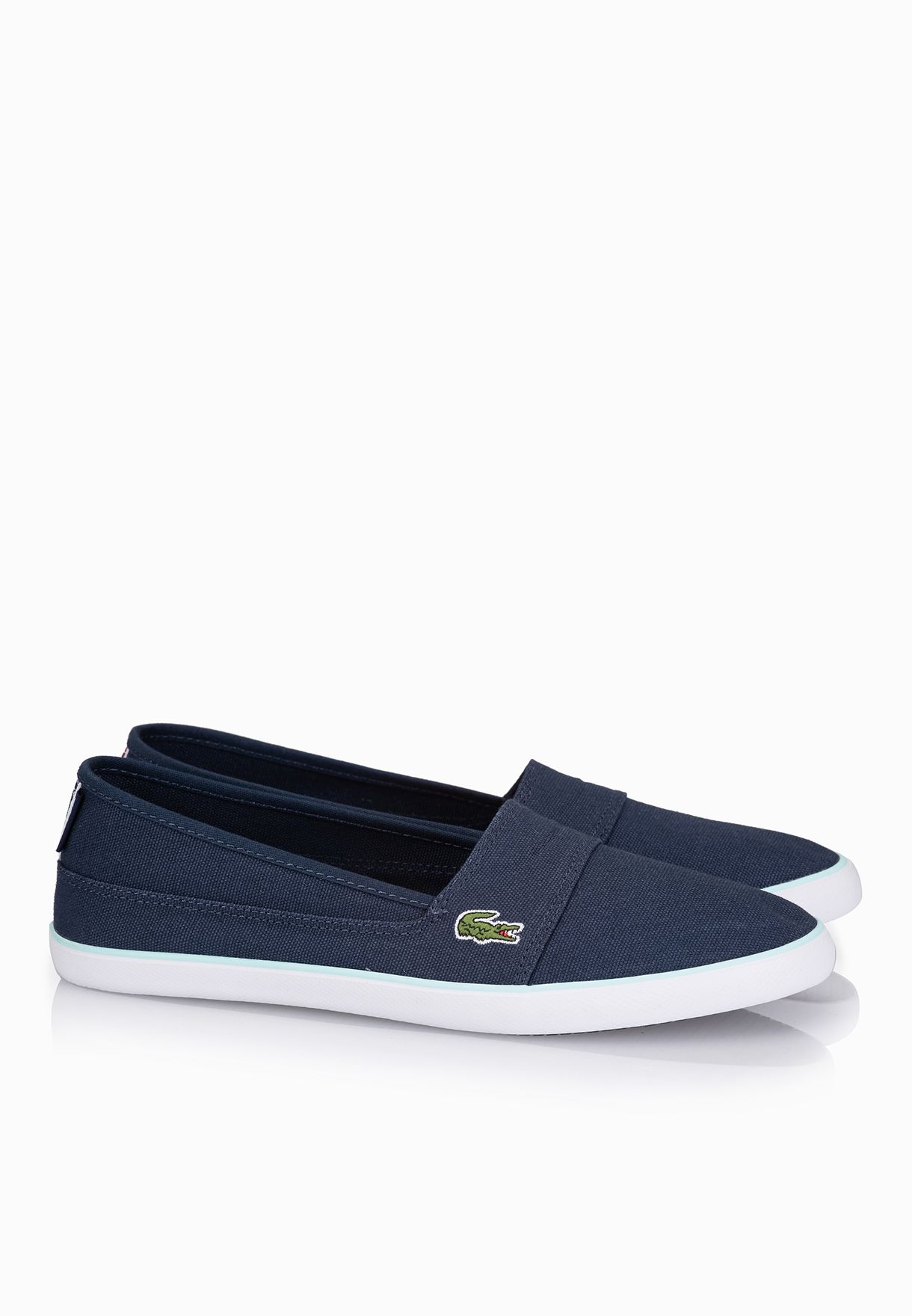 1a7c11ee3 Shop Lacoste navy Marice TRC Slip Ons 30SPW0013-DB4 for Women in ...