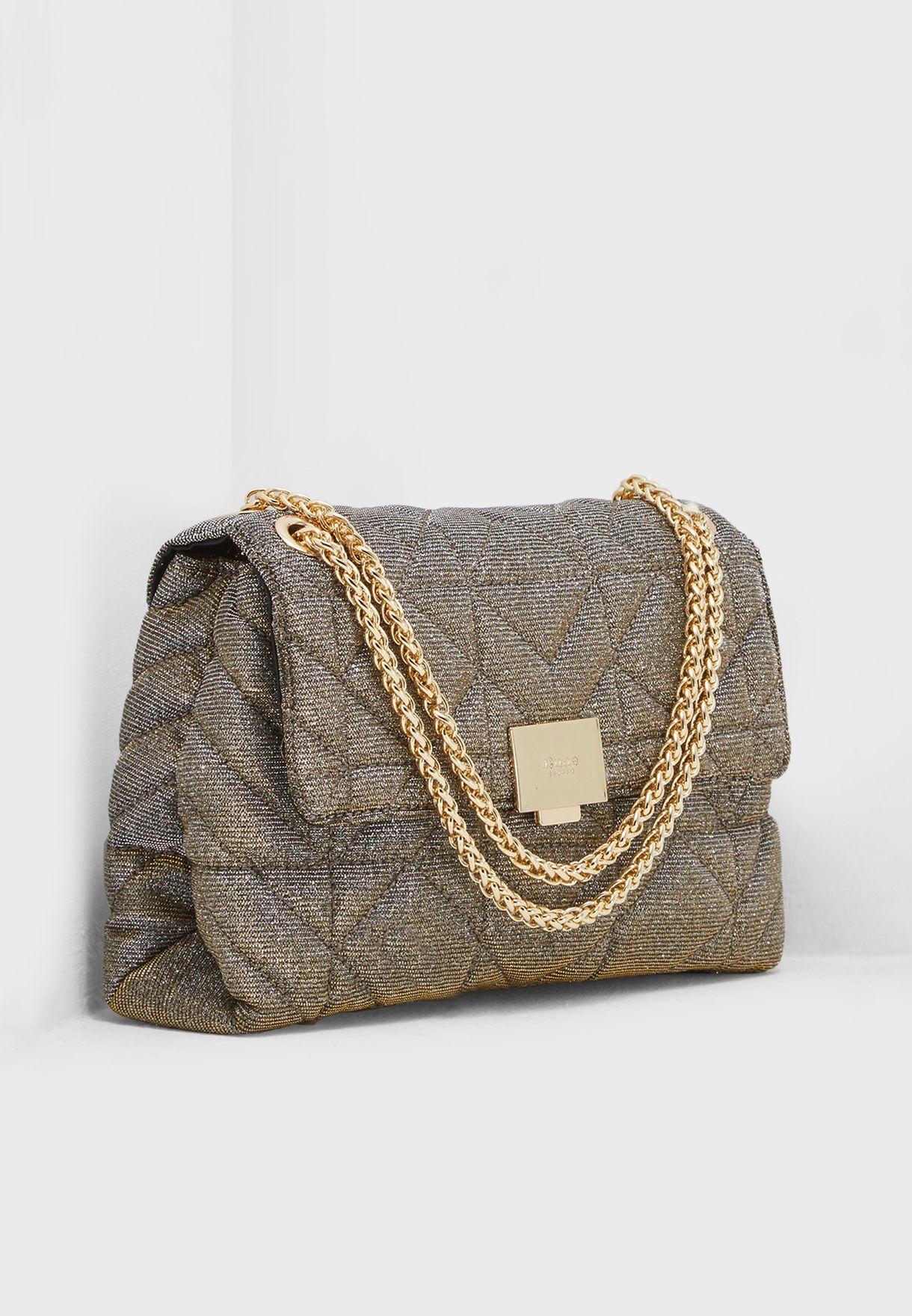 Shop Dune London black Evangelina Quilted Crossbody 0009500110246395 ... 0728e5f9d18c4