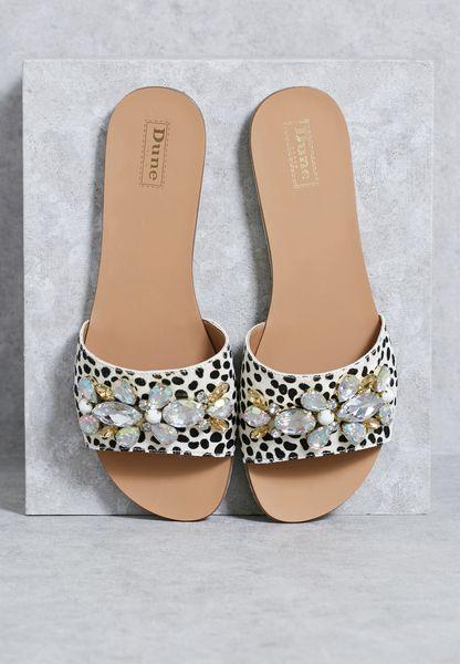 Dalmatians Print Embellished Slides