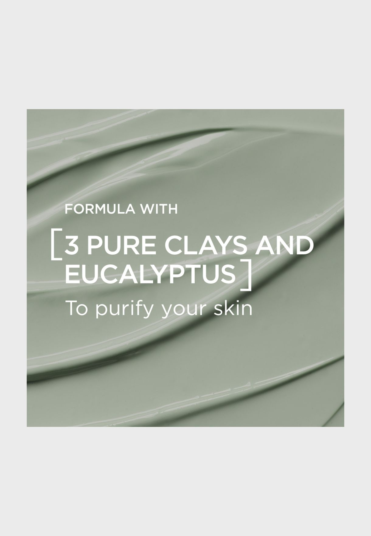Pure Clay Green Mask With Eucalyptus, Purifies And Mattifies, 50 Ml