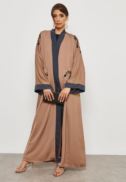 Embellished Pocket Detail Abaya
