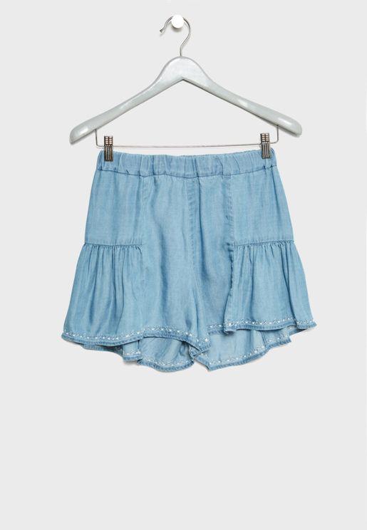 Frill Detail Shorts