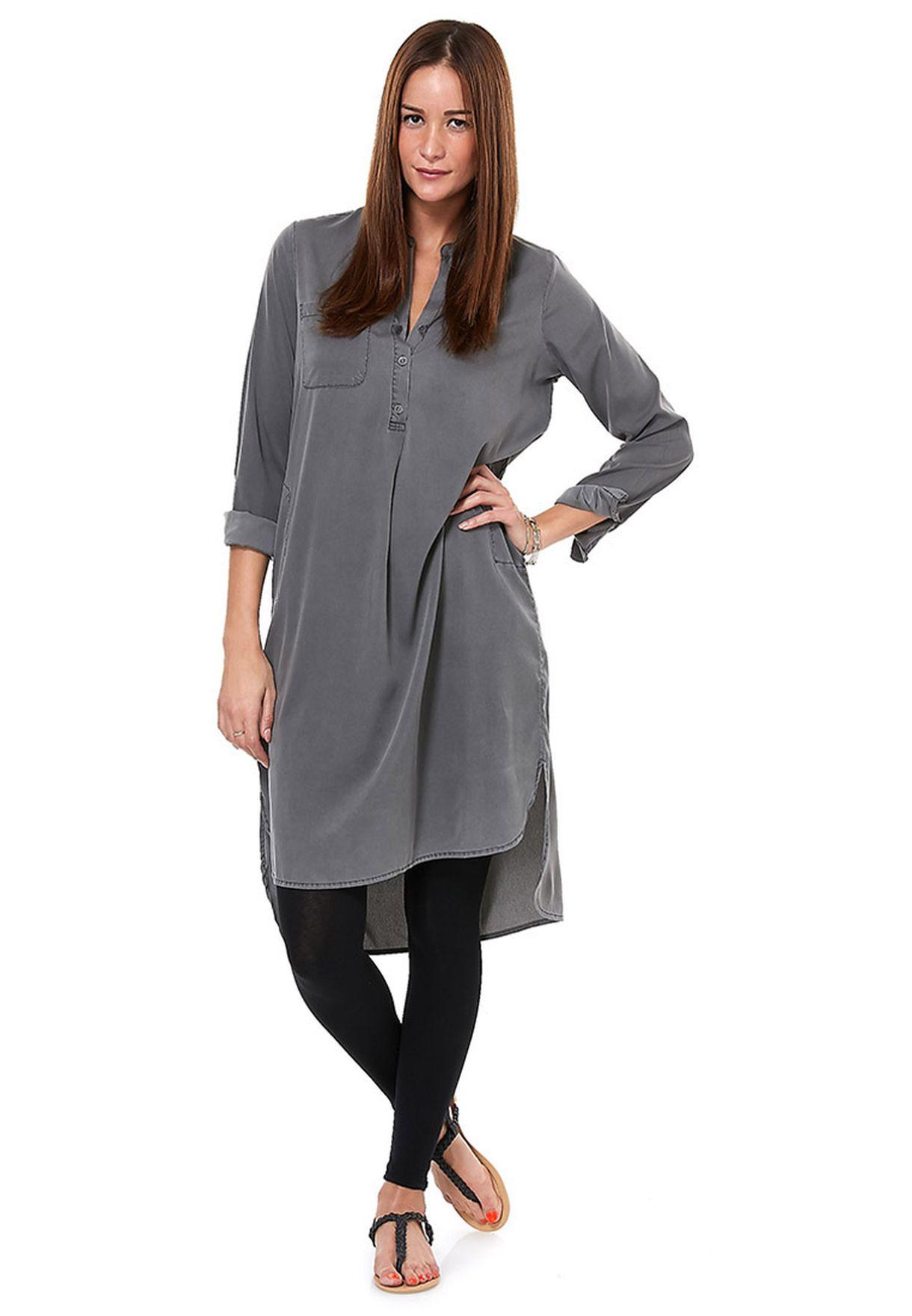 1d1c59f1f060 Shop Vero Moda grey Runa Long Tunic for Women in Globally - VE758AT41GZY