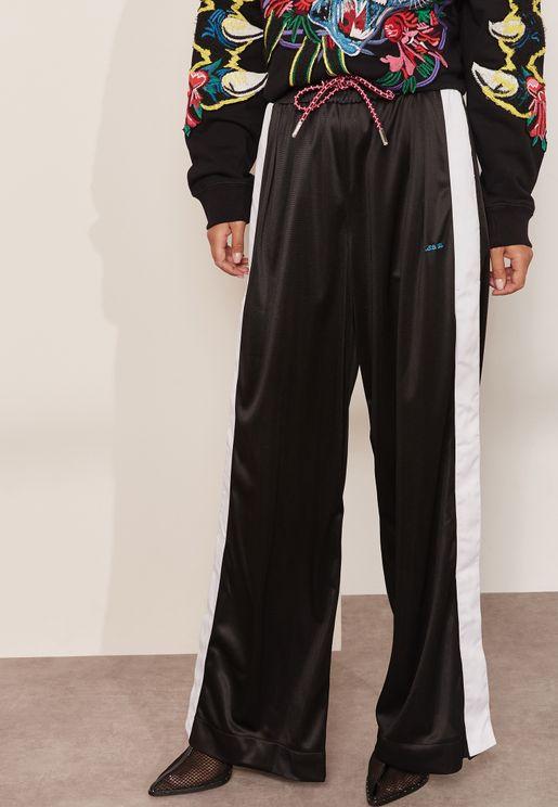 Tie Waist Stripe Sweatpants